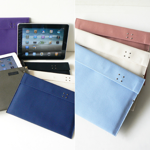 iPad/iPad2 帆布クッションケース新発売