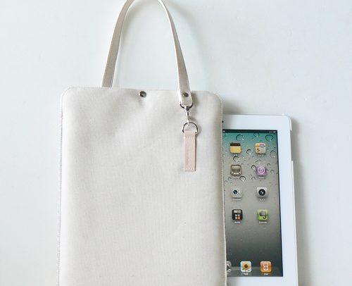 iPad クッションケース 帆布11