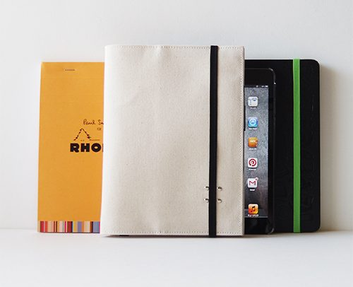 iPad mini + RHODIA No.16 + MOLESKINE 帆布10ケース