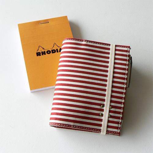 RHODIA プリントカバー - stripeR
