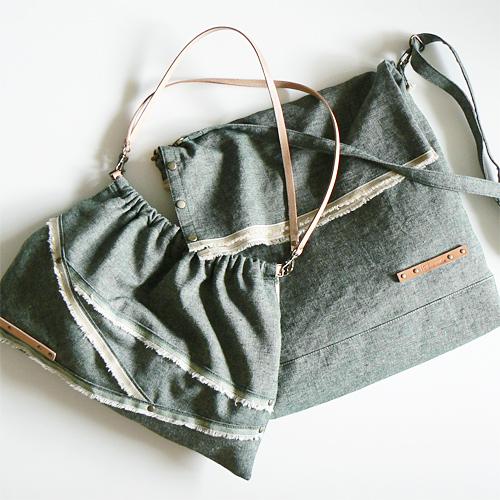 モアリネンダンガリーの新作バッグ