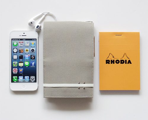 staana-carrying RHODIA+iPhone 帆布10 ケース